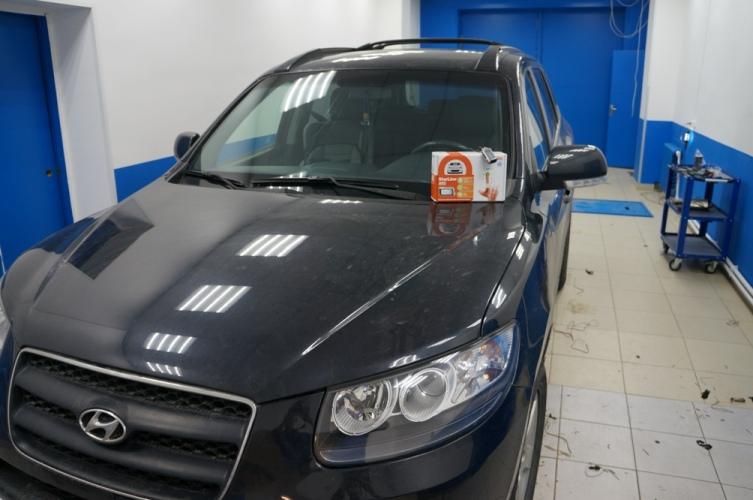 Hyundai Santa Fе  сигнализация StarLine A93