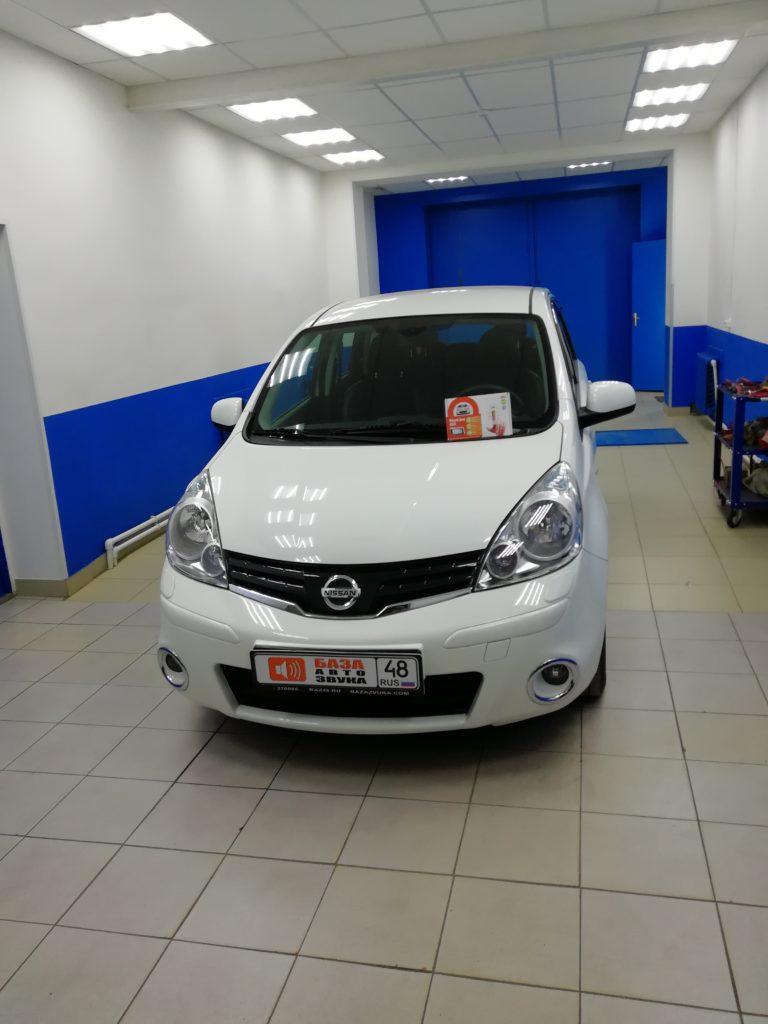 Nissan Note 2012 сигнализация StarLine A93
