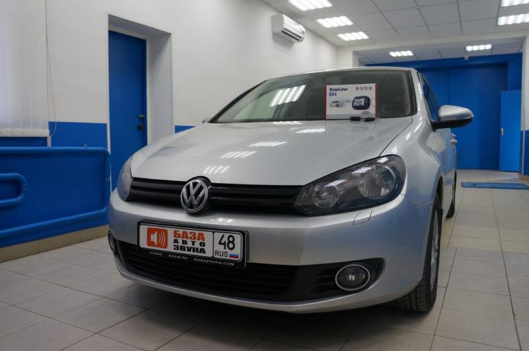 VW Golf 6 2012 сигнализация StarLine B64