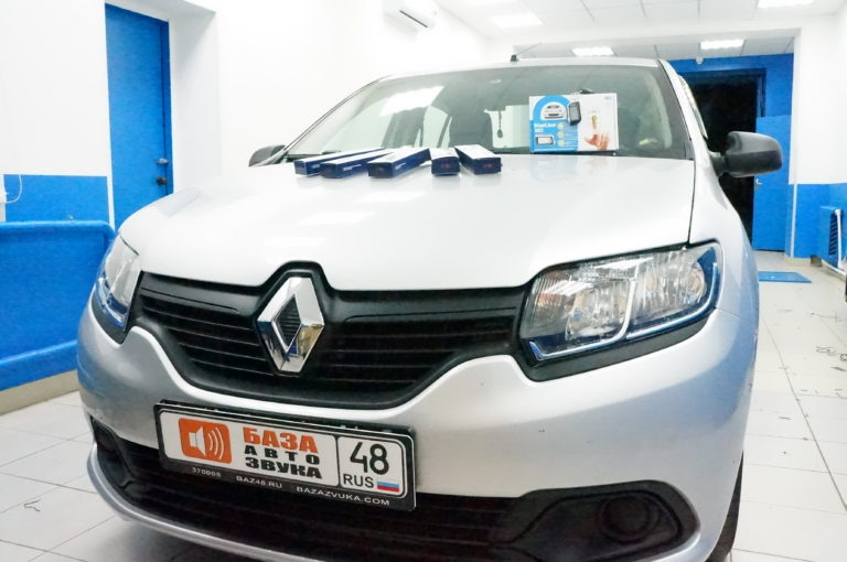 Renault Logan 2018 сигнализация StarLine A63