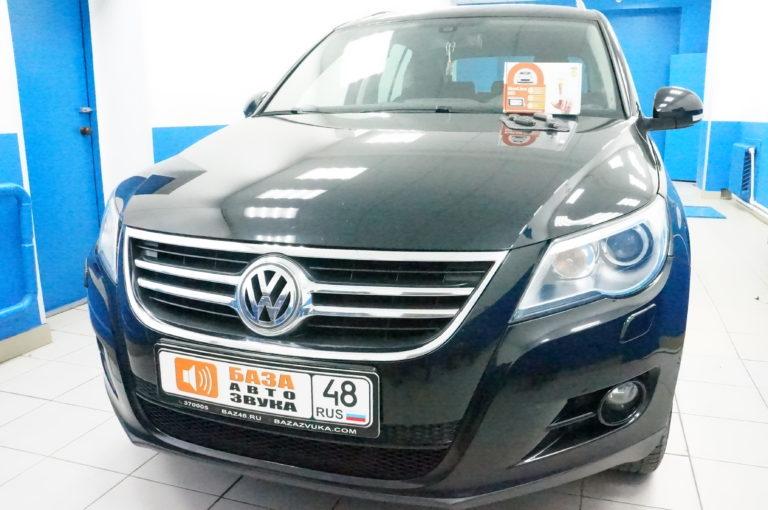 VW Tiguan 2011 сигнализация StarLine A93