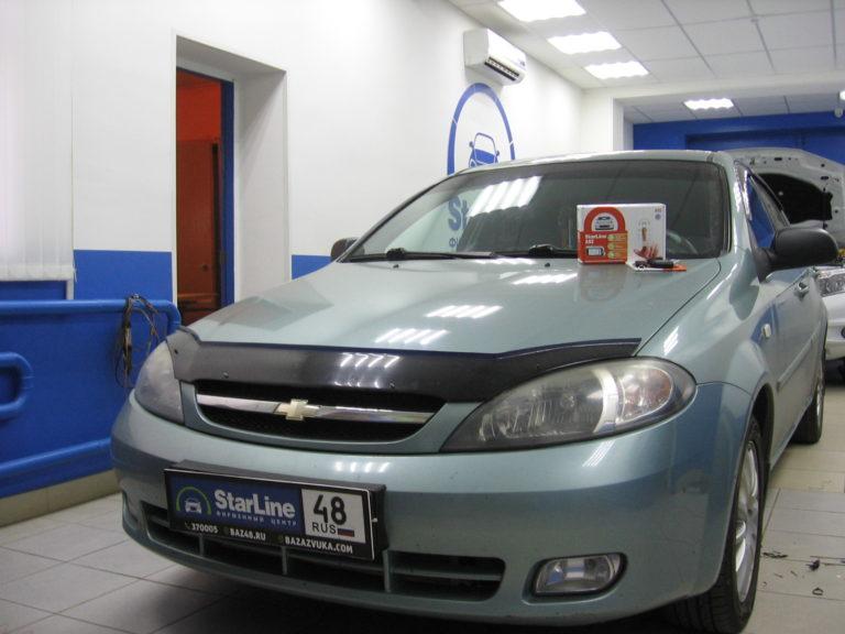 Chevrolet Lacetti 2008 установка StarLine A93