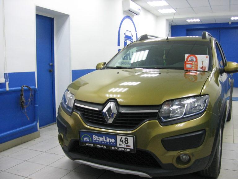 Renault Sandero 2016 УстановкаStarLine E93
