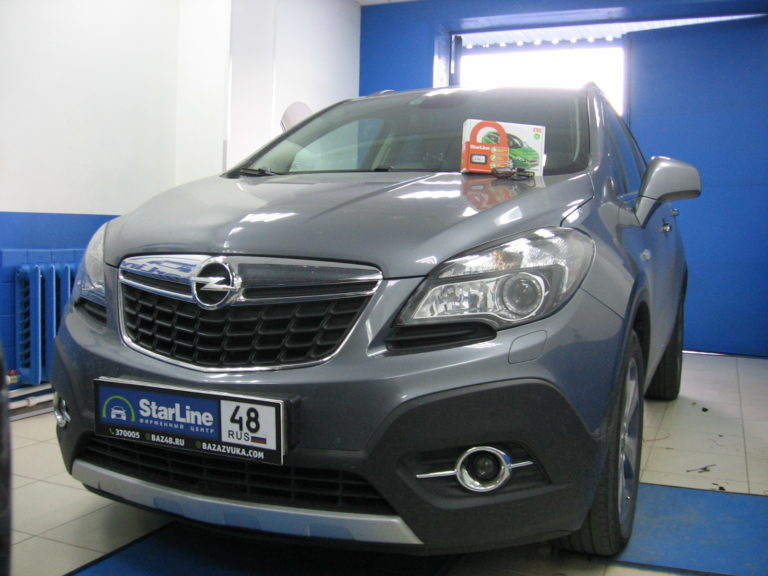 Opel Mokka 2014 сигнализация StarLine E96 BT
