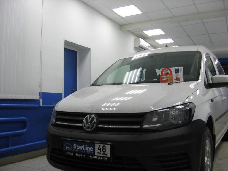 Volkswagen Caddy 2019 установка StarLine A93
