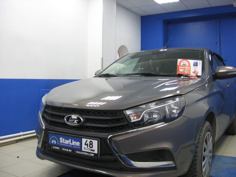Lada Vesta 2017 установка StarLine A93