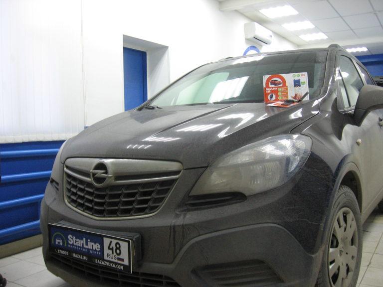 Opel Mokka 2015 установка StarLine S96