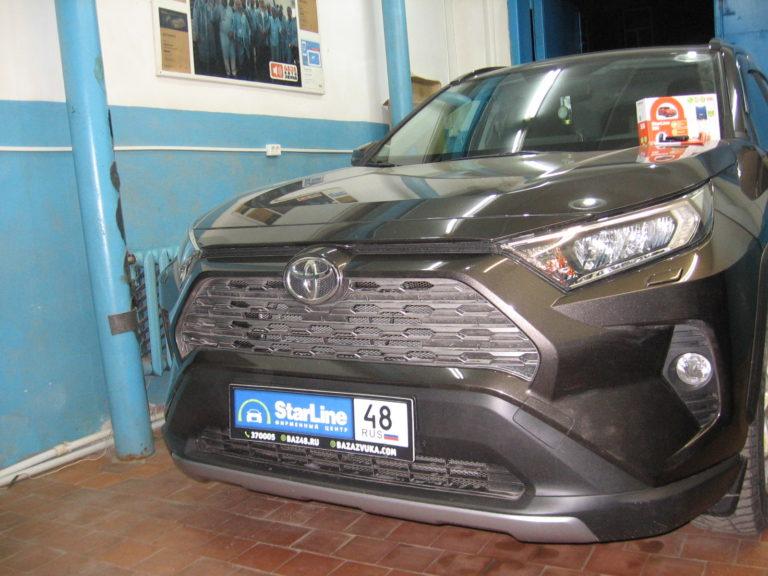 Toyota RAV4 2019 установка StarLine S96