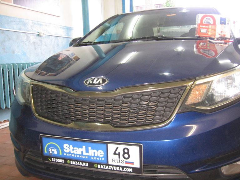 Kia Rio 2016 установка StarLine A93