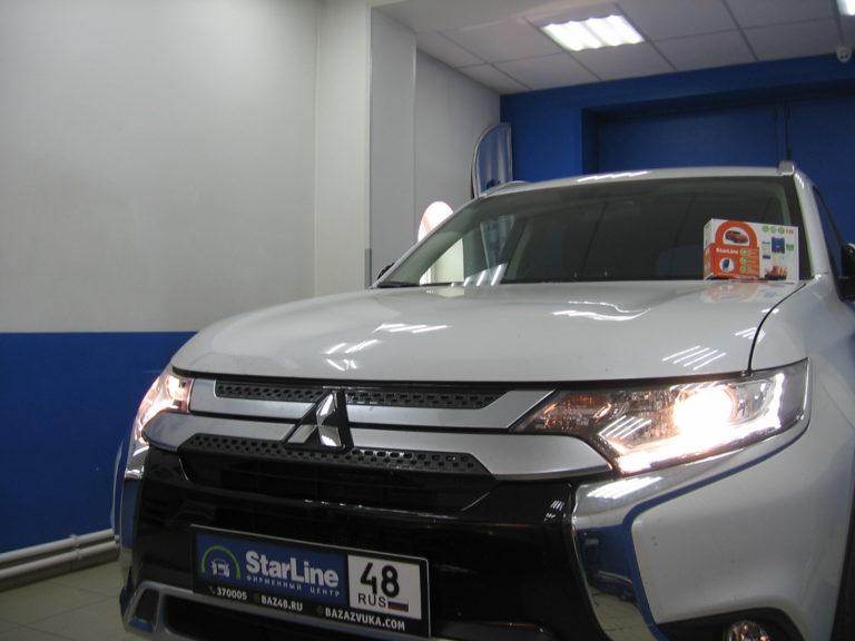 Mitsubishi Outlander 2020 установка StarLine S96 GPS GSM