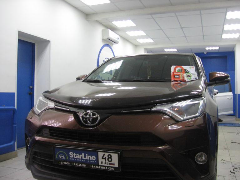 Toyota RAV4 2017 установка StarLine E96 BT + StarLine M66