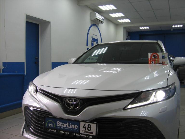 Toyota Camry 2020 установка StarLine S96 GSM