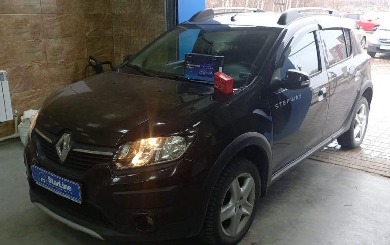 Renault Sandero Stepway 2020 Установка штатной магнитолы