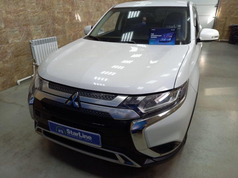 Mitsubishi Outlander 2018 Установка штатной магнитолы