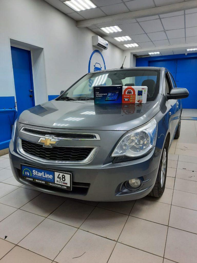 Chevrolet Cobalt 2014 Установка штатной магнитолы
