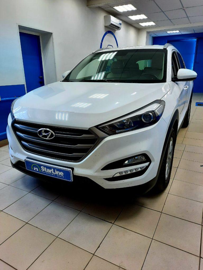 Hyundai Tucson 2018 Установка штатной магнитолы и камеры заднего вида