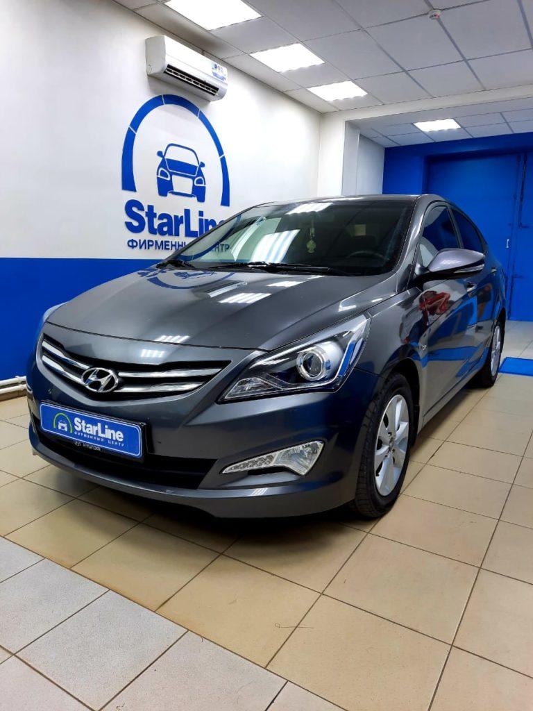 Hyundai Solaris 2016 Установка штатной магнитолы