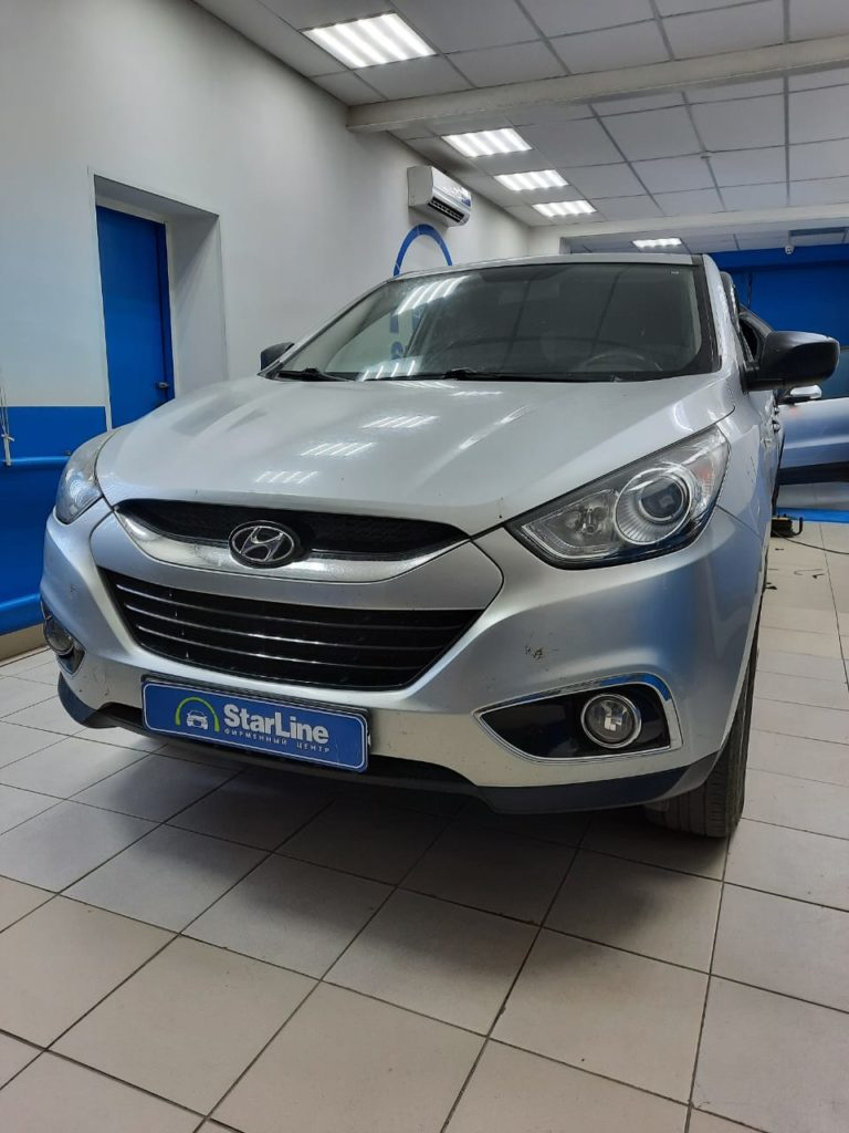 Hyundai IX35 2013 Установка фаркопа