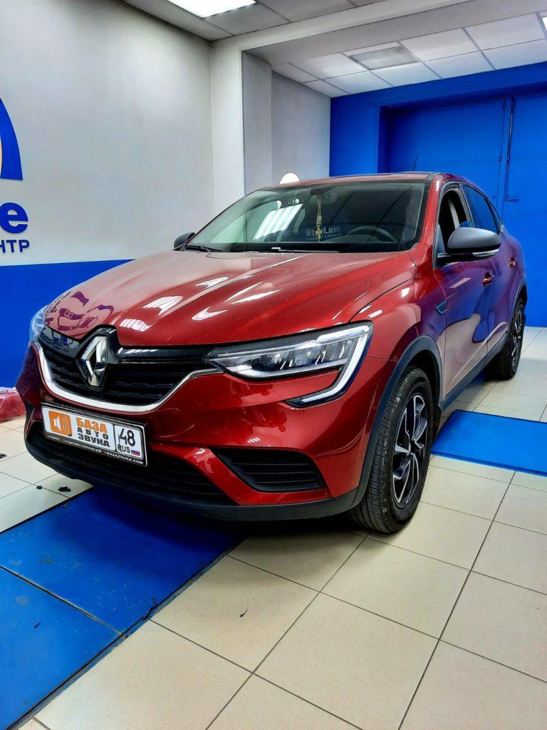 Renault Arkana 2020 Установка штатной магнитолы + камера заднего вида